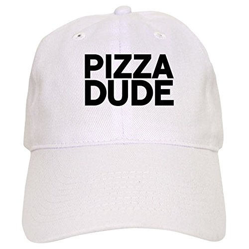 Cap Baseball Dude Vintage (CafePress Pizza Dude - Baseball Cap with Adjustable Closure, Unique Printed Baseball Hat)