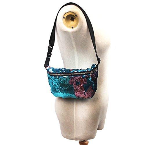 Argento Sacchetto Baosity Rosa Donna Blue Marsupio A Paillette Spalla Moda Borsa Portafoglio xRHxpF