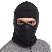 Balaclava Fleece Hood & Ski Mask with Air Mask -...
