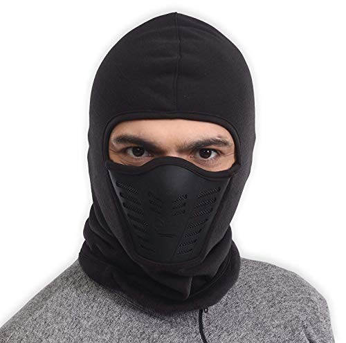 Balaclava Fleece Hood & Ski Mask with Air Mask - Heavyweight Extreme Cold Weather Face Mask - Motorcycle, Ski & Snowboard Winter Gear for Men & Women - Ultimate Protection from the Elements
