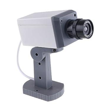Kingzer inalámbrico cámara de seguridad falsa con aspecto realista Sensor de Detección de Movimiento: Amazon.es: Electrónica
