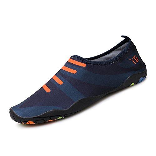 Lucdespo Natación, buceo zapatos Zapatos Zapatos suaves, descalzo, playa, buceo, calzado antideslizante fitness caminadoras, ventilación y rastreo de zapatos, transpirable y de secado rápido. Deep Blue