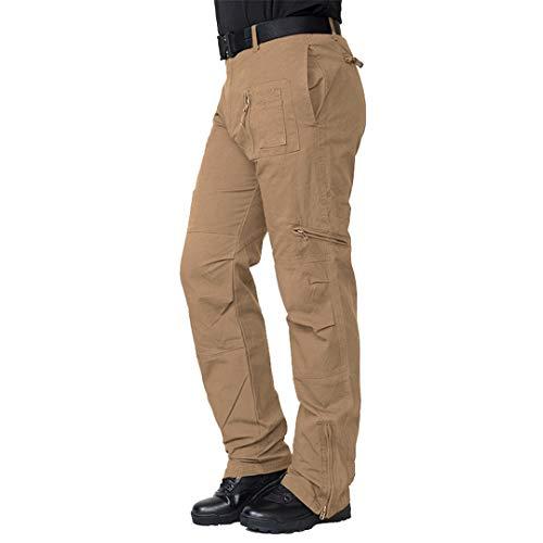 Airborne Army Cargo Pants Men Cotton Tactical Miliatry Pants Casual Pockets US Forces Field Combat Trousers Khaki 38