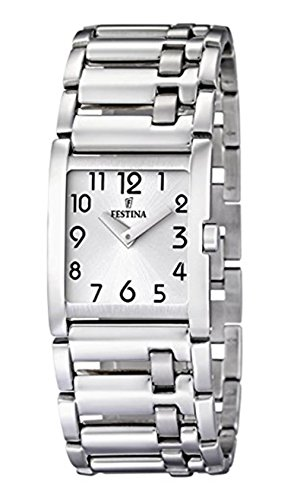 Festina Women's Dame F16550/1 Silver Stainless-Steel Quartz Watch with White Dial