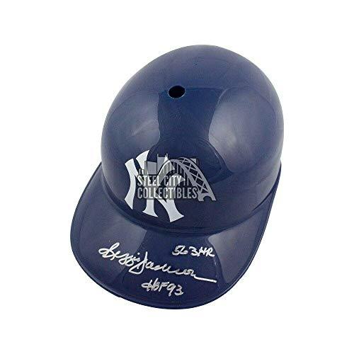 (Reggie Jackson 563 HR HOF 93 Autographed Yankees F/S Souvenir Batting Helmet - JSA Certified - Autographed MLB)