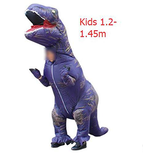 Dinosaur Suit Outfit Party Halloween Costume Adult,T-Rex Purple Kids,One Size -
