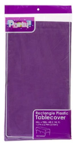 2-Pack Plastic Rectangle Party Tablecloth Purple 54 X 108 - Purple Rectangle