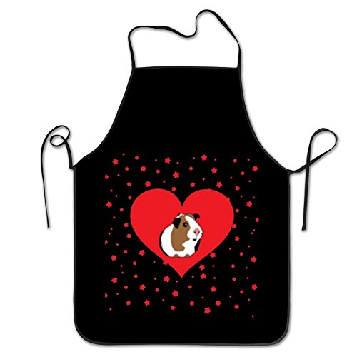 Guinea Pig Valentine's Day Durable Washable Adjustable Kitchen Overlock Apron