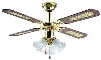 "Micromark Ceiling Fan: Micromark 30002 42"" Nassau Ceiling Fan with 3 Light Fittings,Lighting"
