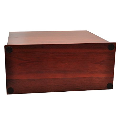 Cherry Finish Slide Top Wood Urn (Photo Engraved) by Memorial Gallery (Image #3)