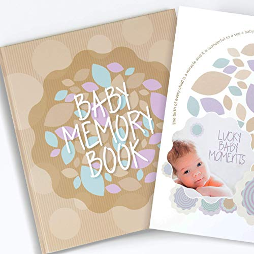 - Baby Memory Book for First Year - Milestone Book for Boy & Girl | Use as a Scrapbook Album or Journal to Record Moments Since Pregnancy | Perfect Baby Shower Gift