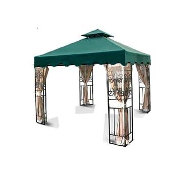 New 10u0027x10u0027 Double Tiered Replacement Garden Gazebo Canopy Top with Scallop Edge Sun  sc 1 st  Amazon.com & Amazon.com : New 10u0027x10u0027 Double Tiered Replacement Garden Gazebo ...