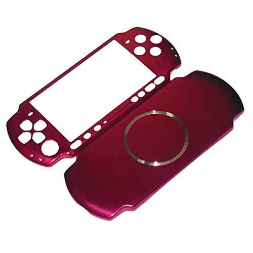 XFUNY Case for PSP 3000, Aluminum Hard Protective Case Cover Shell Guard Protector Faceplate Decal Mod for PSP 3000 Console - Golden (Pink)