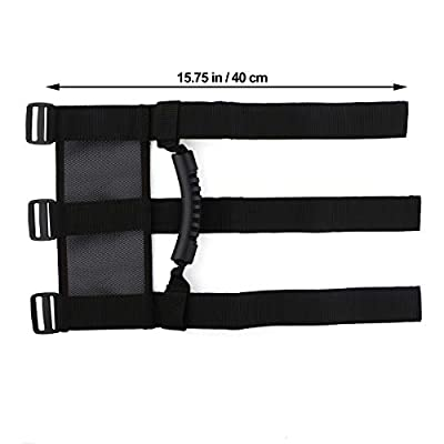 Roll Bar Grab Handles for Jeep Wrangler UTV & ATV Sports Sahara Freedom Rubicon X & Unlimited 3 Straps Design Fits 1.5″ to 3″ inch Jeep Roll Bar - Wrangler Accessories (Black (4 pcs)): Automotive