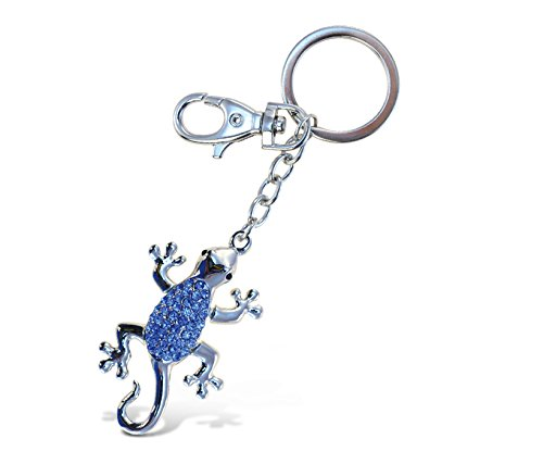 Blue Gecko Keychain