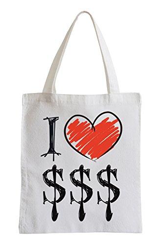 Amo $ Fun sacchetto di iuta