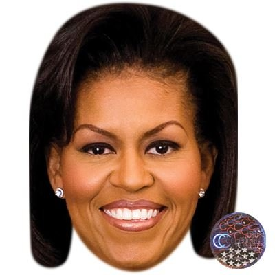 Obama And Michelle Costumes Halloween (Michelle Obama Celebrity Mask, Card Face and Fancy Dress)