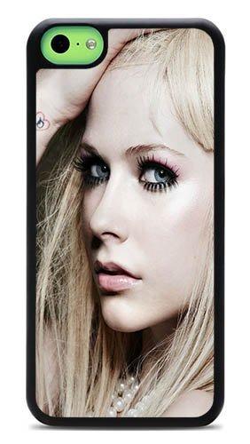 iPhone 5C Case - Avril Lavigne Singer Songwriter Rugged PC Hardshell Case for 5C Black J-15