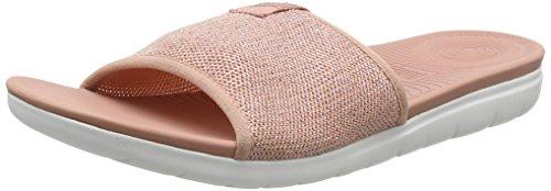 Dusky Mujer Abierta Rosa Punta Slide Pink Sandalias 612 Sandals con Metallic para Fitflop Uberknit nTqvRwSx68
