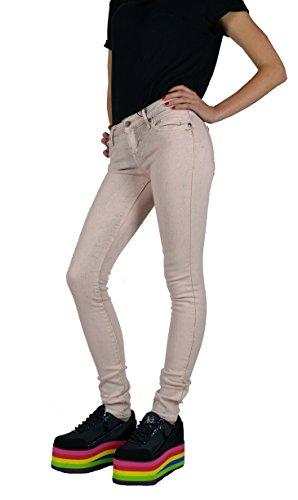 Kill City Women's Vintage Cement Wash Stretchy Skinny Rocker Slim Twill Jeans (26) (Jean Twill Vintage Wash)