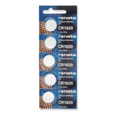 5 Pack Renata CR1620 3V Lithium Battery
