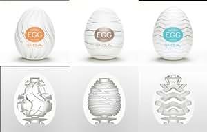 Tenga Egg Twister Silky Wavy 3 Pack Variety