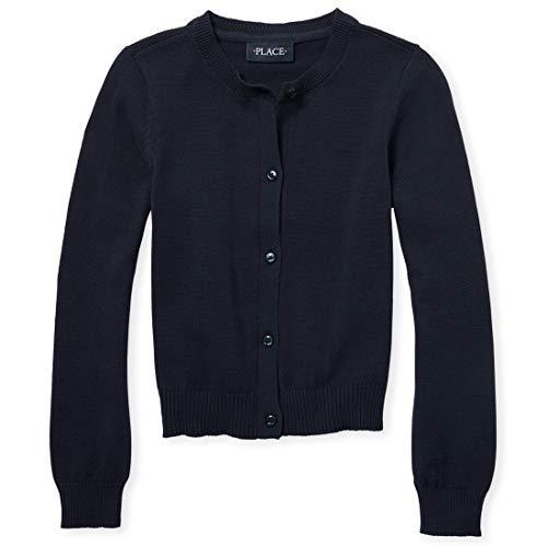 - The Children's Place Big Girls' Uniform Cardigan Sweater, Tidal 4422, Medium/7/8