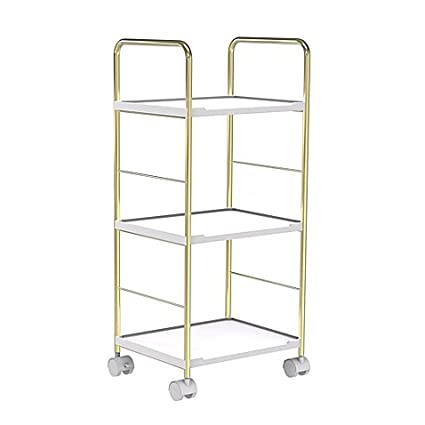 salt bathroom rolling cart in soft goldwhite - Bathroom Cart