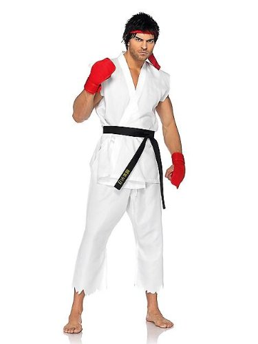 [Street Fighter Ryu Costume Adult] (Ryu Costume)