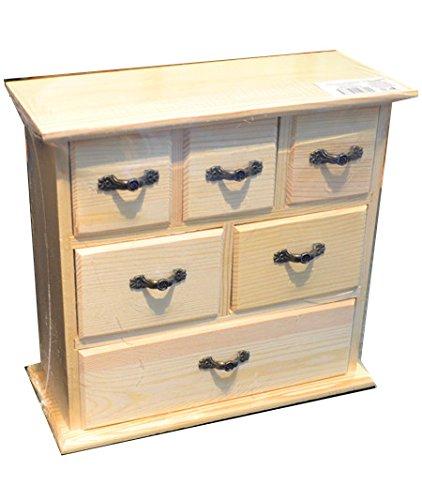 Mobiletto in legno 22 cm da decorare dipingere decoupage: Amazon.it ...