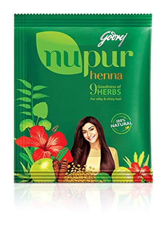 (Nupur Henna Powder Natural Mehndi for Hair Color with Goodness of 9 Herbs- 400gram X Pack of 2)