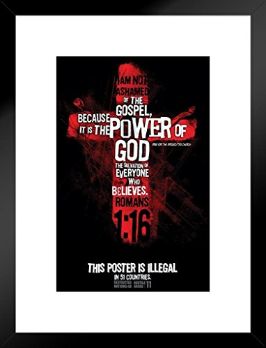 This Matted Framed Art Print Wall Decor is Illegal in 51 Countries Gospel Religious Art Poster 20×26 inch