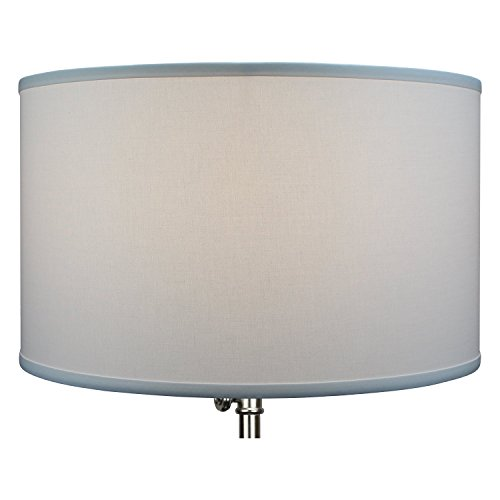 FenchelShades.com 18'' Top Diameter x 18'' Bottom Diameter 11'' Height Cylinder Drum Lampshade USA Made (White) by FenchelShades.com (Image #3)