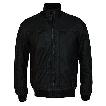 Brave Soul Mens Faux Leather Biker Black Motorcycle Jacket