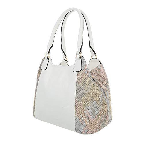 para de Sintético Bolso Ital Blanco hombro Design mujer al PxwqvaCvg