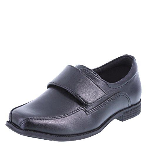 Black Boys Strap - SmartFit Black Boys' Grant Strap Dress Shoes 12 Wide