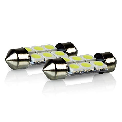 TGP 36mm-39mm White 6 LED SMD 5050 Festoon Mirror Visor Vanity Light Bulbs Pair 2003-2009 Mercedes Benz E Class ALL