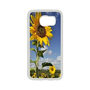 Chaap And High Quality Phone Case For Samsung Galaxy S6 -Sunflowers Art Pattern-LiShuangD Store Case 14
