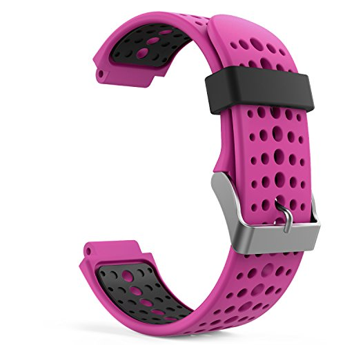 MoKo Soft Silicone Adjustable Replacement Sport Strap Band for Garmin Forerunner 235.