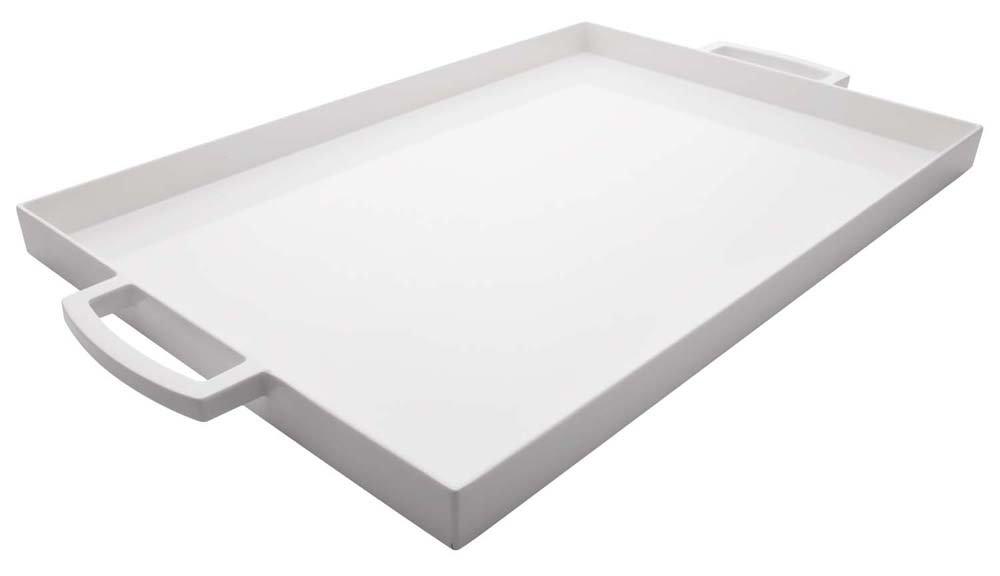 Zak Designs 19-1/2 by 11-1/2-Inch Large Rectangular Tray, White