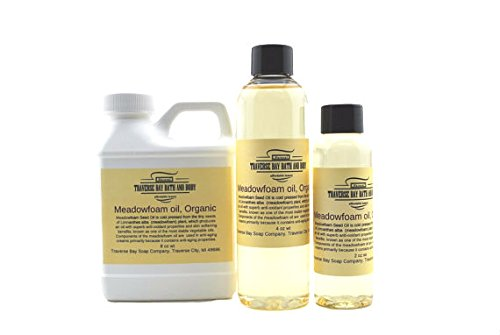 Meadowfoam Seed Oil Organic, 8 oz , Safety sealed container. Soap making, lotion, creams, bath, beauty. ()