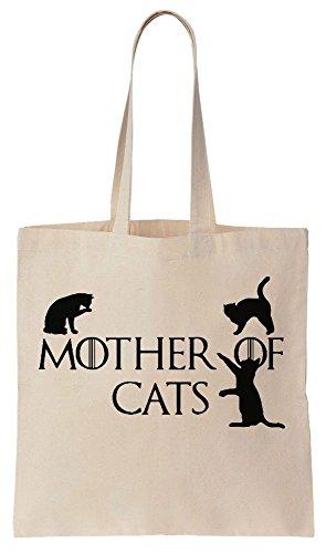 Mother Of Cats Sacchetto di cotone tela di canapa