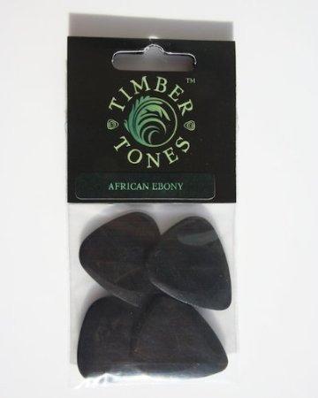 Timber Tones P4-AFEB African Ebony Guitar Picks