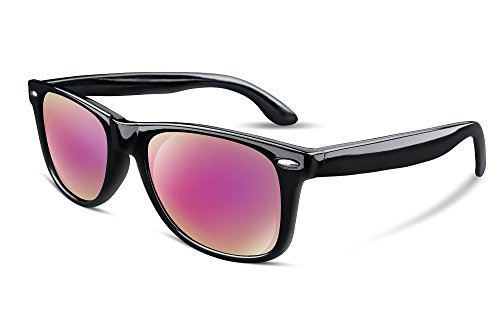 FEISEDY Great Classic Polarized Sunglasses Men Women Mirrored Lens Sakura-Pink B1858 (Sunglasses Wayfarer Lens Polarized)