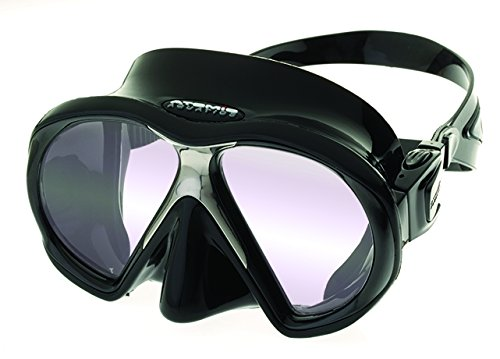 Atomic Sub Frame MEDIUM FIT Scuba Diving Mask with ARC Lens Anti-Reflective Coating (Black/Black) - Medium Fit Mask