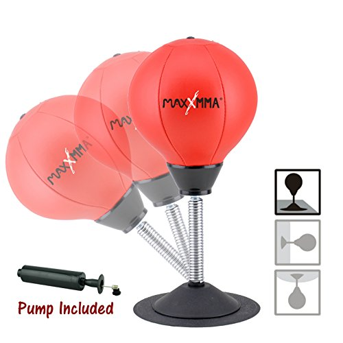MaxxMMA Two-Way Stress Buster Desktop Punching Ball
