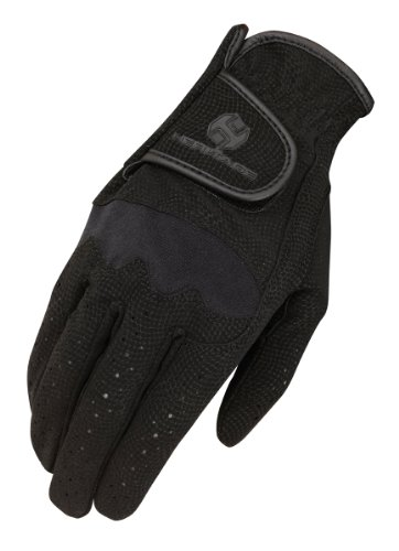 Heritage Riding Gloves - Heritage Spectrum Show Gloves, Size 7, Black