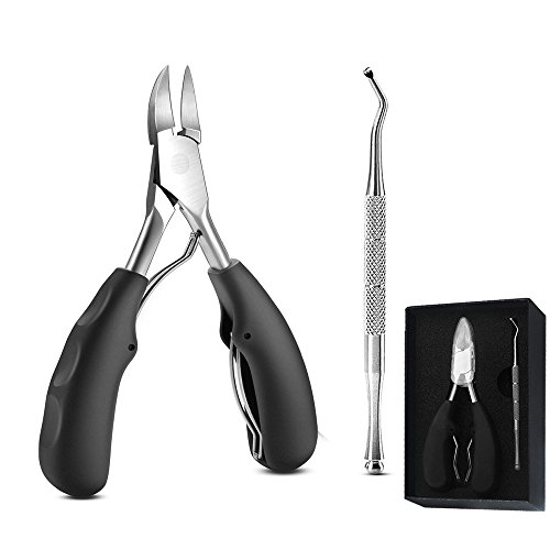 Toenail Clipper for Ingrown Nails, Symer Nail Clipper & Pedicure Tool Heavy Duty Stainless Steel Precision & Professional Long & Thick Toenail Trimmer Tool Set With Nail Lifter, Perfect for Everyone by Harmoos