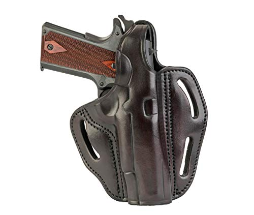 "1791 GUNLEATHER 1911 Holster - Thumb Break Leather Holster - Cocked and Locked Carry - Right Hand OWB Holster for Belts - Fit 4"" and 5"" Barrels (Signature Brown)"