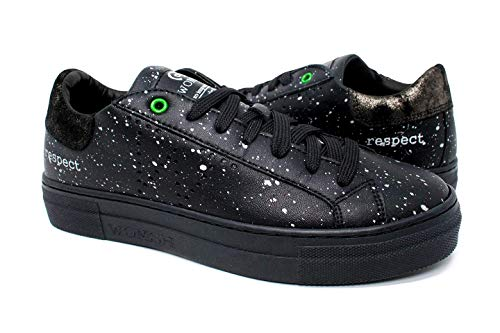Made In Snik Womsh Donna Nero argento Sneakers Pelle Italy Black Drops 27 rY0xqw0T